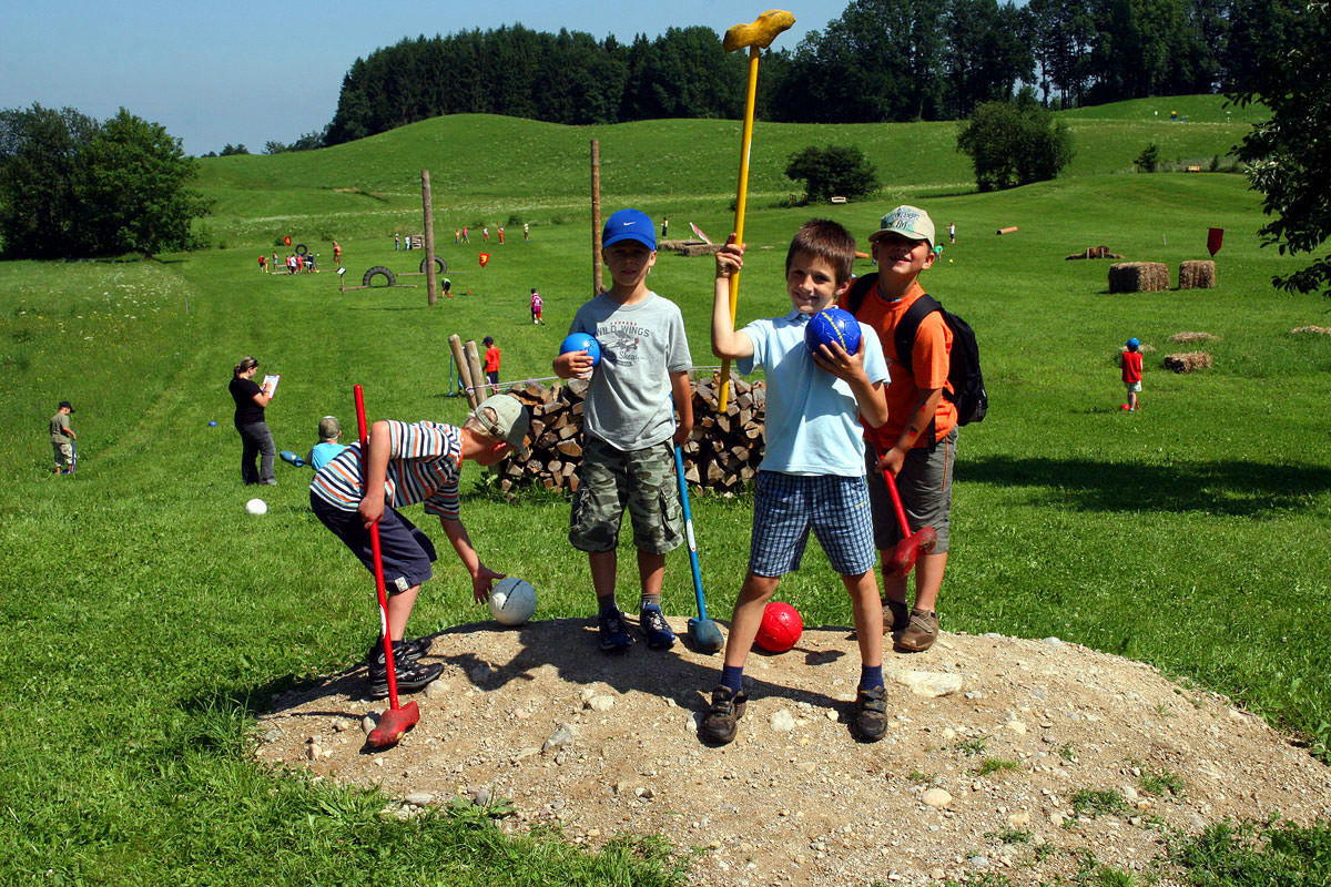 Bauergolf bietet den perfekten Klassenausflug oder das Highlight jedes Wandertages